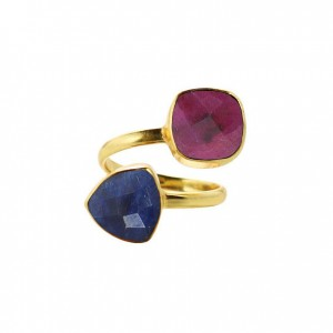 Charlene K Ruby Sapphire Ring
