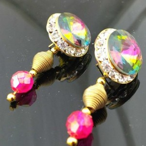 Juicy Jewels and Gems Genuine Aurora Borealis Swarovski earrings