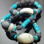 Juicy Jewels and Gems Semi-precious gemstone hip-hop, BoHo bracelet